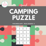 Puzzle for Spanish Camping Vocabulary (Realidades 3, Chapter 1)