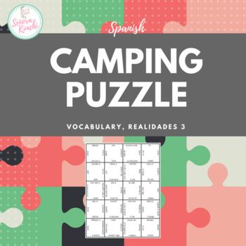 Camping Vocabulary Puzzle (Realidades 3, Ch 1)
