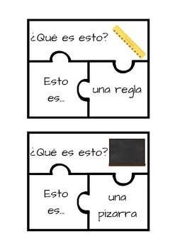 Puzzle material escolar