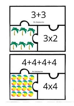 Puzzle multiplicación-suma