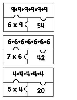 Puzzle multiplication et addition répétée