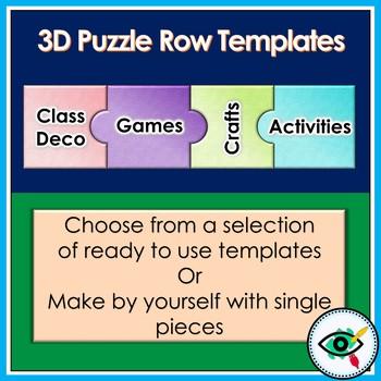 Puzzle row templates clip art