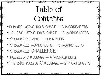 Puzzled! A 10 More - 10 Less Unit