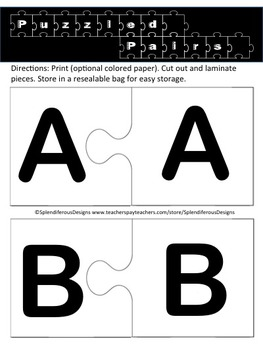 Puzzled Pairs: Alphabet Uppercase to Uppercase Matching