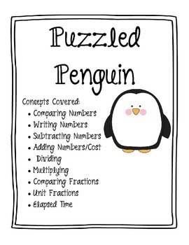 Puzzled Penguin Math Word Problems