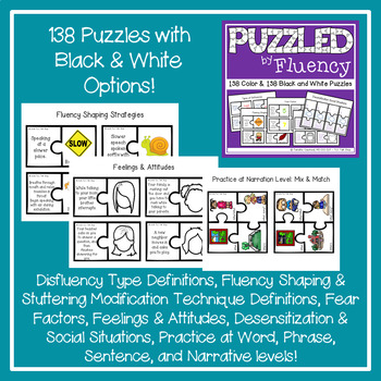 Puzzles BUNDLED for Speech Therapy: Fluency, Phonology, Idioms, Articulation