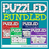 Puzzles BUNDLED for Speech Therapy: Fluency, Phonology, Id