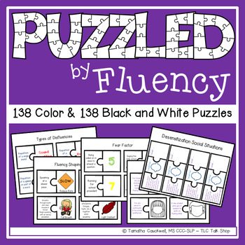 Fluency (Stuttering) Puzzles for Speech Therapy