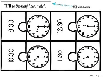 Puzzled to Pieces with Time {Hour and Half Hour}