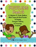 Puzzlers Pack #3: Even More Brain Builders, Mind Teasers & Word Puzzles Bundle