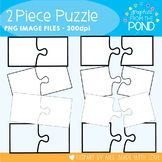 Puzzles - 2 Piece - Graphics and Clipart for Teaching Resources