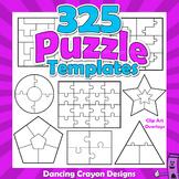 Puzzle Clip Art - Blank Puzzle Templates Clipart BUNDLE