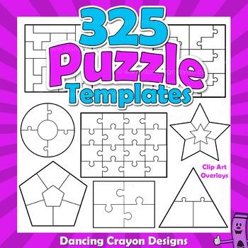 Puzzle Clip Art - Blank Puzzle Templates BUNDLE