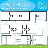 Puzzles - 3 Piece - Clipart for Teachers