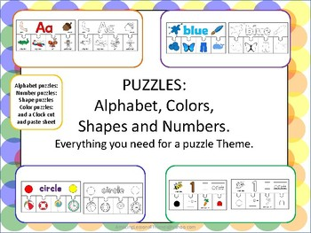 Puzzles Alphabet Colors Shapes and Numbers