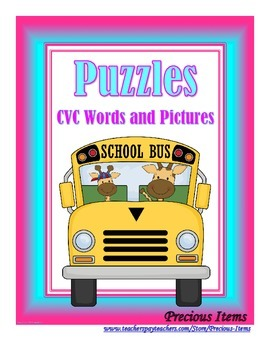 Puzzles - CVC Pictures and Words