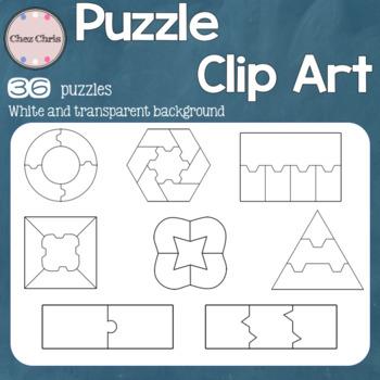 Puzzles Clip Art: 36 graphics