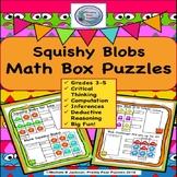 Squish Blobs Math Puzzles, #turkeydeals,  Logic Math Puzzles, Brain Teasers,