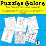 Puzzles Galore! Brain Teasers, Word Searches, Crosswords