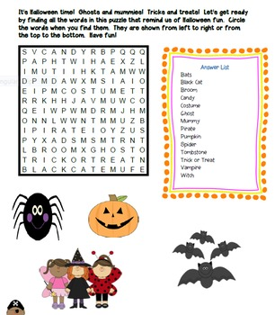 Crossword Puzzles - Halloween Fun