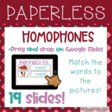 Puzzles: Homophones (Distance Learning - Google Classroom-