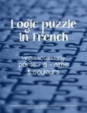 Puzzles: Logic puzzles in French (porte, a, aime)