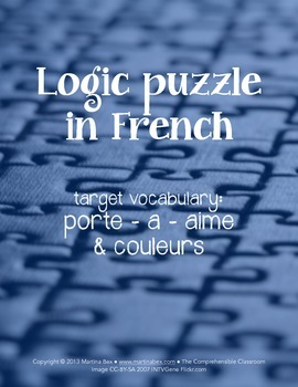 Puzzles: Logic puzzles in French (porte, a, aime) #COVID19WL