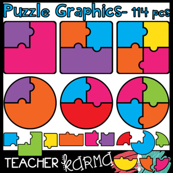 Puzzles & Pieces Graphics * Make a Game Templates