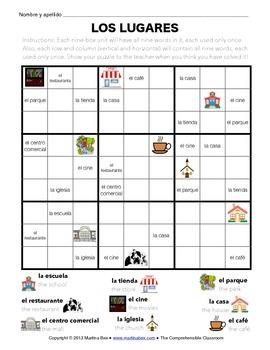 Puzzles: Places Wordoku
