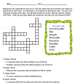 Crossword Puzzles - Resources