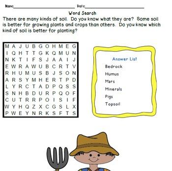 Crossword Puzzles - Soil, Soil Enrichment, and Soil Conservation