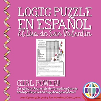 "Puzzles: Valentine's Day ""Girl Power"" Logic Puzzle in Spanish"
