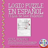 """Puzzles: Valentine's Day """"Girl Power"""" Logic Puzzle in Spanish"""