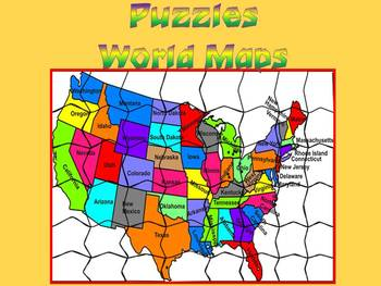 Maps - World Maps - Puzzles
