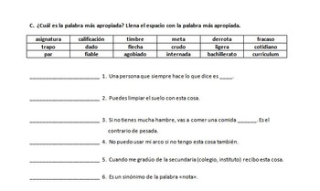 Puzzles/Tests & more for my AP Spanish Vocab lists (lists each sold separately)