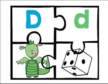Puzzles de l'alphabet français / French alphabet puzzle game