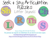 Seek & Say Articulation Puzzles: Later Sounds