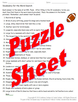 Puzzles for Football