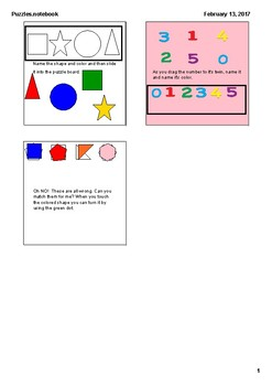Puzzles for Numbers, Shapes and Amount Comparisons