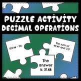 Puzzles of 4 Decimal Operations Activity
