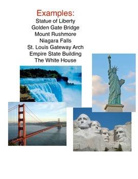 Puzzles of American Landmarks in Social Studies Center
