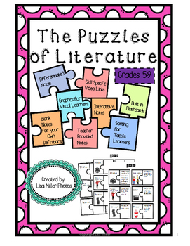 Puzzles of Literature Interactive Notes ~with Differentiat