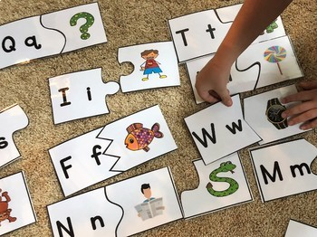 """Puzzles to use with YouTube song featuring Dr. Jean's """"Who Let the Letters Out?"""""""