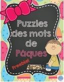 Puzzles étude de mots de Pâques/ French easter words puzzle