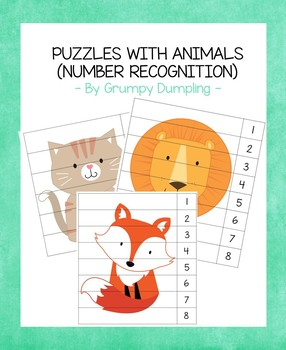 Puzzles with Animals (Number Recognition)