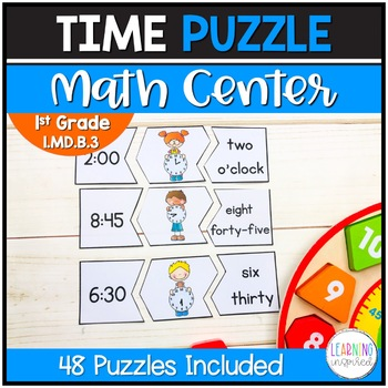 Puzzled with Time?  Math Center Puzzles