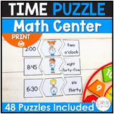 Time Puzzle Math Centers
