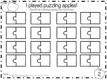 Puzzling Apples! {uppercase/lowercase alphabet  puzzle cards + numbers 0-9}