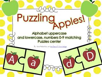 Puzzling Apples! {uppercase/lowercase alphabet  puzzle car