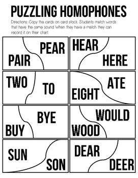 Puzzling Homophones